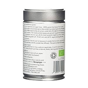 teapigs Organic Matcha Tea Tin, 80 Gram