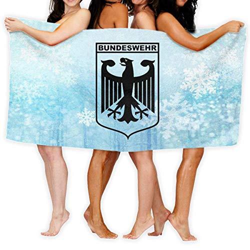 Roman Lin Großes Badetuch Badetuch Bundeswehr Logo Mit Text Mode Übergroße Leichte Badetuch Saugfähiges Badetuch Handtuch Badetuch 80X130Cm