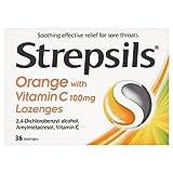 6 x Strepsils Orange with Vitamin C (36) by Strepsils