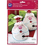 Wilton Shaped Bags 15/Pkg-Candy Cane