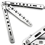 BOKHAMMER - Argent Butterfly Balisong Couteau Papillon Exercice