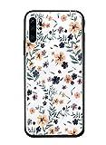 Caler Hülle Kompatibel mit Xiaomi Redmi Mi 9 SE Hülle 9H Gehärtetem Marmor Glas Rückseite mit TPU Rahmen Schutzhülle Ultra Dünn Handyhülle Rahmen Hüllen [Stoßfest] Slim Kratzfest Shell Hülle