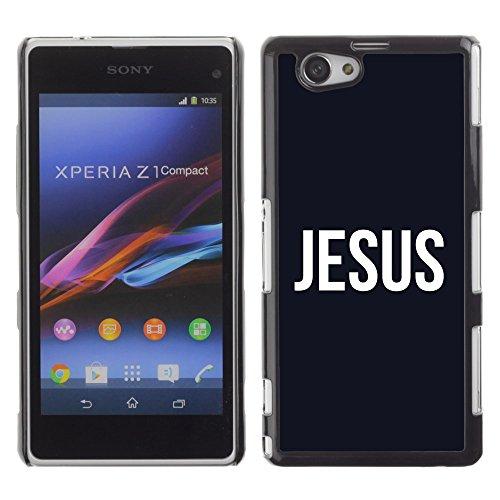 DREAMCASE Bibelzitate Bild Hart Handy Schutzhülle Schutz Schale Case Cover Etui für Sony Xperia Z1 Compact D5503 - Jesus