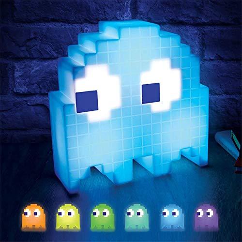 Pac Pixel luz de noche LED Wars colorida lámpara de mesa de escritorio fiesta niños atmósfera Lampara comer guisantes luz fantasma regalo de Navidad para chico