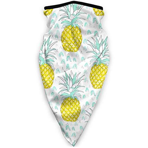 Face Shield,Diadema De Bufanda Blanca Dorada con Diseño De Triángulos Modernos De Mediados De Siglo, Protectores Faciales Deportivos con Estilo para Correr En El Gimnasio,24x52cm