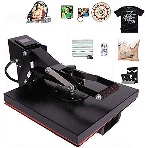 CO-Z Heat Press 38x38cm Clamshell Heat Press Machine Professional 1000W T-Shirt Press for Shirt, Phone...