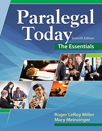 Compare Textbook Prices for Paralegal Today: The Essentials 7 Edition ISBN 9781305508743 by Miller, Roger LeRoy,Meinzinger, Mary