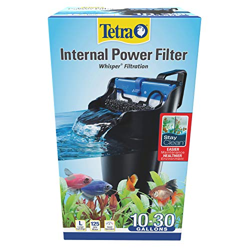 Tetra Whisper Internal Filter 10 To 30 Gallons, For aquariums, In-Tank Filtration With Air Pump