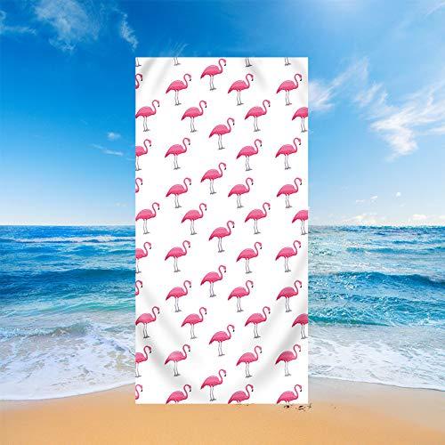 Fansu Teli Mare in Microfibra Grandi, Tropicale Stile Telo Mare Microfibra Leggero Asciugamano da Spiaggia Estate Coperta da Spiaggia per Viaggio Mare Nuotare Bagno (Rosa Fenicottero,70x150cm)