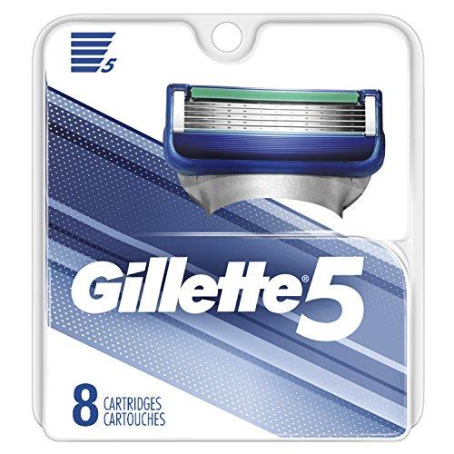 Gillette5 Men's Razor Blade Refills, 8 Count