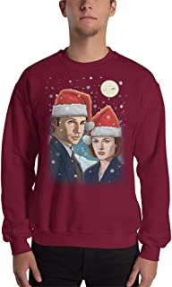 The X-Files Fox Mulder and Dana Scully Ugly Christmas Sweater Sweatshirt Unisex
