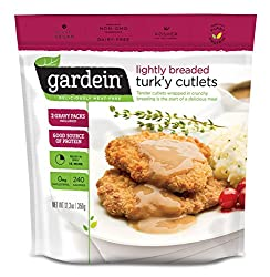 Gardein Lightly Breaded Turk'y Cutlets with Homestyle Gravy, Meatless Protein Packed Patties, Contai