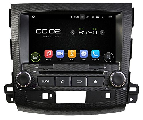 Sunshine Fly 8 inch Android Quad Core Touchscreen 2 DIN Auto DVD GPS Radio Stereo voor Mitsubishi Outlander 2006~2012 Peugeot 4007 2007-2012 Bluetooth hotspot wifi 3G SWC Rockford Soundsystem