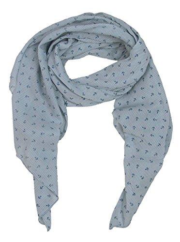 Zwillingsherz Zwillingsherz Seiden-Tuch mit Anker-Print - Hochwertiger Schal für Damen Mädchen - Halstuch - Umschlagstuch - Loop - weicher Schlauchschal für Sommer Herbst und Winter von Cashmere Dreams jns