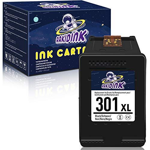 AAKIDINK 301 Negro XL Remanufacturados Cartuchos de tinta compatibles con HP 301XL para Envy 4500 5530 5534 DeskJet 1510 2544 2540 3050a 1050 1512 2542 OfficeJet 4632 2622 2623 Impresoras(1 Paquete)