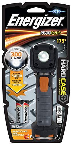 Energizer - Linterna Led Profesional Hardcase Pivot, Cabezal Pivotante, 300 LM, Magnética,...