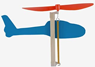 YouMake 10-Pack Rubber Band Helicopter Kit - DIY STEM Project for Kids - Comes with Instructions, Plastic Propellers, and More!