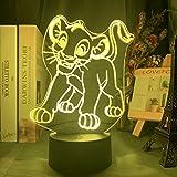Nur 1 Stück Acryl 3d Led Nachtlicht Lampe Cartoon...