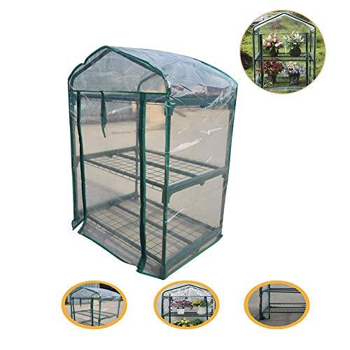 Invernaderos Jardin Balcón Al Aire Libre Pequeño Invernadero Invierno Flores Proteccion Impermeable Protección contra La Nieve Almacenamiento Portátil, 2 Estilos 2 Tamaños BAI Yin
