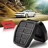 FJiuJin Pedal 2 Piezas Negro Cauchos C44 Freno de Embrague de ratón for VW en Forma for el Golf Jetta MK2 de Coches Accesorios for automóviles Partes Interiores
