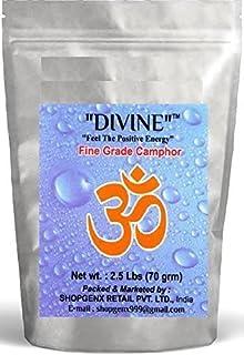 Divine供養Pure 70g Refined Camphor Flakes for Holy Spiritual Hindu供養Ganpati & Diwali Rituals