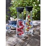 WMF Basic Wasserkaraffe Set, 3-teilig, Karaffe mit 2 Fruchtspieße (18 und 24 cm), Glas-Karaffe 1,0l, Höhe 29 cm, Silikondeckel, CloseUp-Verschluss, - 13
