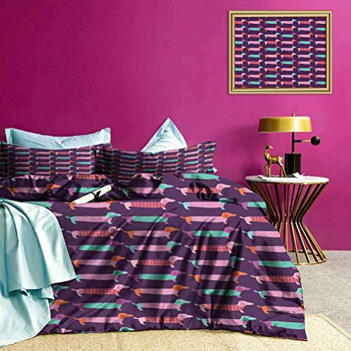 Kids' Quilt Set Sixties Style Puppy Soft Lightweight Coverlet So Adorable and Versatile - King Size