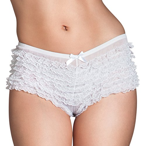 Boland 01861 Hot Pants Lace, weiß, M