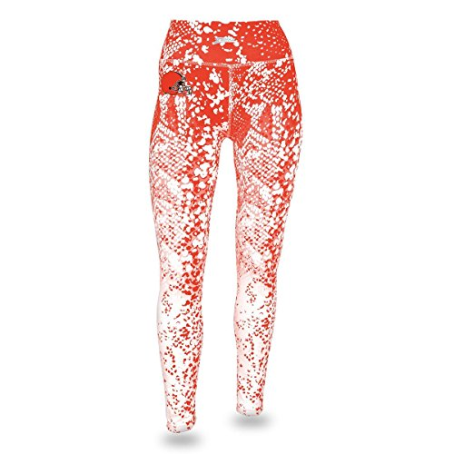 Zubaz NFL Cleveland Browns Women's Gradient Print Team Logo Leggings, X-Large, Orange/White