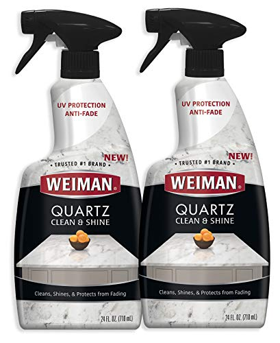 Weiman Quartz Countertop Cleaner and Polish - 24 Ounce (2 Pack) - Clean and Shine Your Quartz Countertops Islands and Stone Surfaces with Ultra Violet Protection