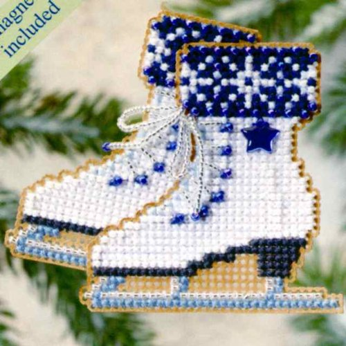 Ice Skates - Winter Holiday - Cross Stitch Kit