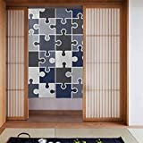 Generies Kitchens - Cortinas de rompecabezas difíciles y sin fin para cocina, puerta de granja, para decoración de puerta de casa, cocina, 86 x 143 cm