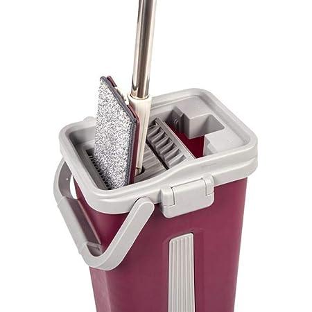 Kit Complet Balai Clean 360°, Lingette Microfibre Et Seau (Rouge)