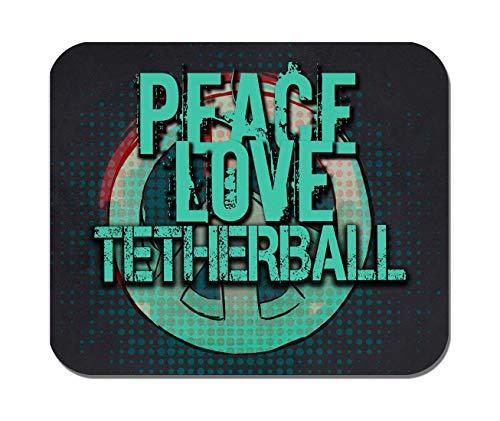 Makoroni - Peace Love Tetherball - Non-Slip Rubber - Computer, Gaming, Office Mousepad