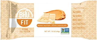 BHU BAR Peanut Butter White Chocolate Protein BAR Pack of 12