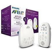 Philips Avent Audio-Babyphone SCD713/26, DECT-Technologie, Eco-Mode, 18 Std. Laufzeit, Gegensprechfunktion, Schlaflieder
