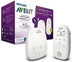 Philips Avent Audio-Babyphone SCD713/26, DECT teknolojisi, Eco Mod, 18 saat çalışma süresi, interkom fonksiyonu, ninniler