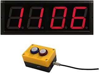 BTBSIGN LED Up/Down Counter with Switch Box & Remote Red 4'' LED Display (4Digit)