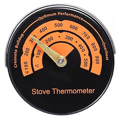 Estufa Magnética Termómetro Estufa De Leña Estufa Top Termómetro Medidor Temperatura Estufa De Combustión De Tubería Termómetro Accesorios De Chimenea Para Evitar Estufa Ventilador Dañado Por