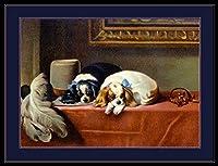 ERZAN大人のパズル木製パズル1500英語版キャバリエキングチャールズスパニエル犬犬子犬ビンテージ芸術大人子供パズル