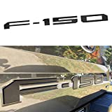 Keptrim for F150 Tailgate Insert Letters, 3D Emblem, Tailgate Decal with Adhesive for Ford F150 2018 2019 2020 (Matte Black)