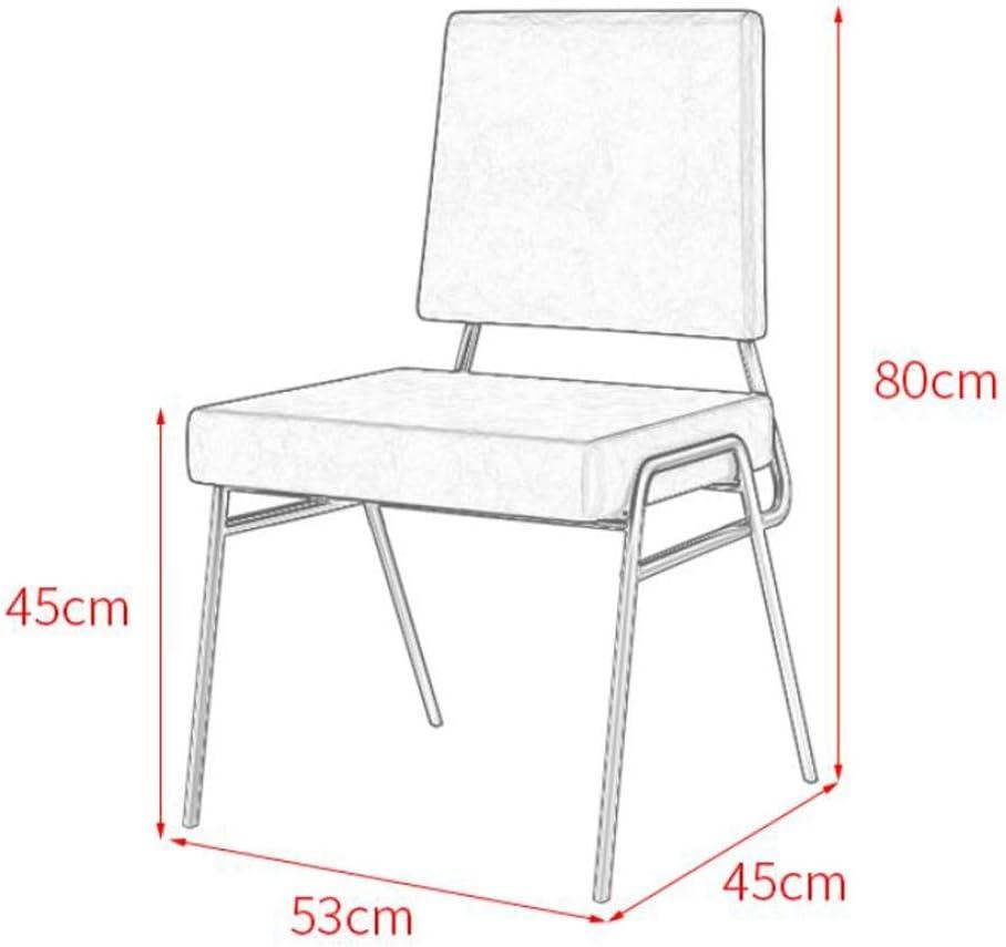 Magnifique Simple Chaise Bureau étudiant et Chaise de Maquillage Tabouret Retour à la Maison à Manger Chaise d'ordinateur Fort (Color : Blue a) Light Blue B