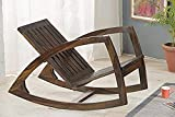 Mamta Decoration Wooden Brown Stylish Rocking Chair with...