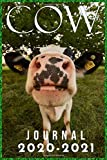 Cow Journal 2020-2021: 2020 Calendar & Journal Notebook: Cow | 2020 Calendar For Animal | Appointment Planner And Organizer Journal Notebook Planner & Schedule