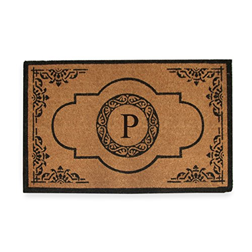 """First Impression Hand Crafted Abrilina Entry Monogrammed Double Doormat (29.5"""" x 47.5"""")"""