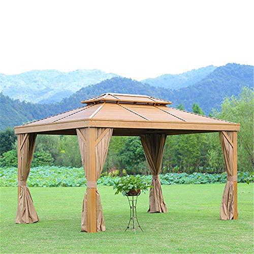 Equipo Carpa emergente para Exteriores con Dosel de Gazebo con mosquitera para Proporcionar Sombra Adicional para Sus Fiestas en el Patio y Actividades al Aire Libre 3.65 x 3.65m
