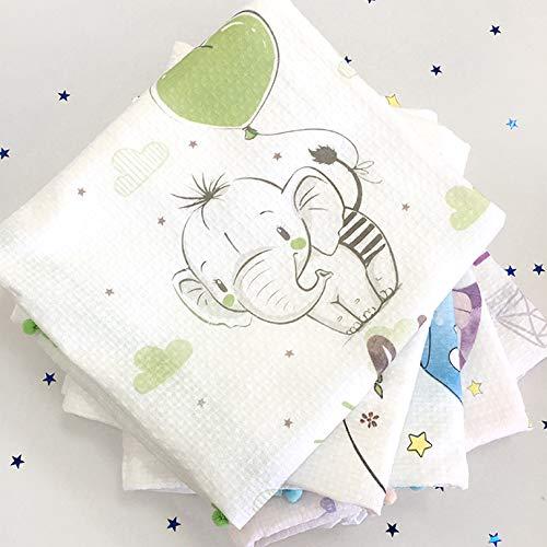 Baby Mullwindeln, Spucktücher, Geschenk-Set für Baby, 5-er Pack, handmade in EU, Mulltücher, Musselin Tuch (Unisex, weiß)