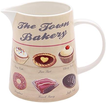 Preisvergleich für Martin Wiscombe 900 ml Porzellan Town Bakery Milchkanne, Saftkrug, Krug aus Porzellan, Mehrfarbig