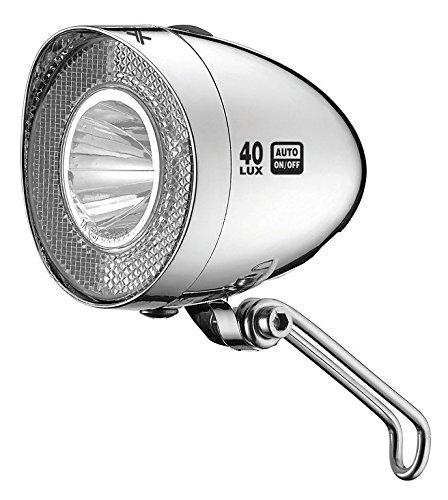 XLC Unisex– Erwachsene CL-D04 LED Dynamo Scheinwerfer, Silber, Einheitsgröße