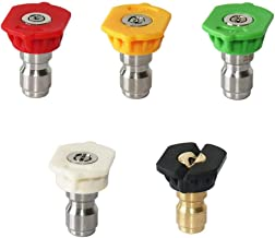 """Stone Banks Drukwasmachine Spray Nozzle Tips Set Meerdere graden, 1/4 """"Quick Connector, 2.5GPM, 5-Pack, Goed voor Power Wa..."""